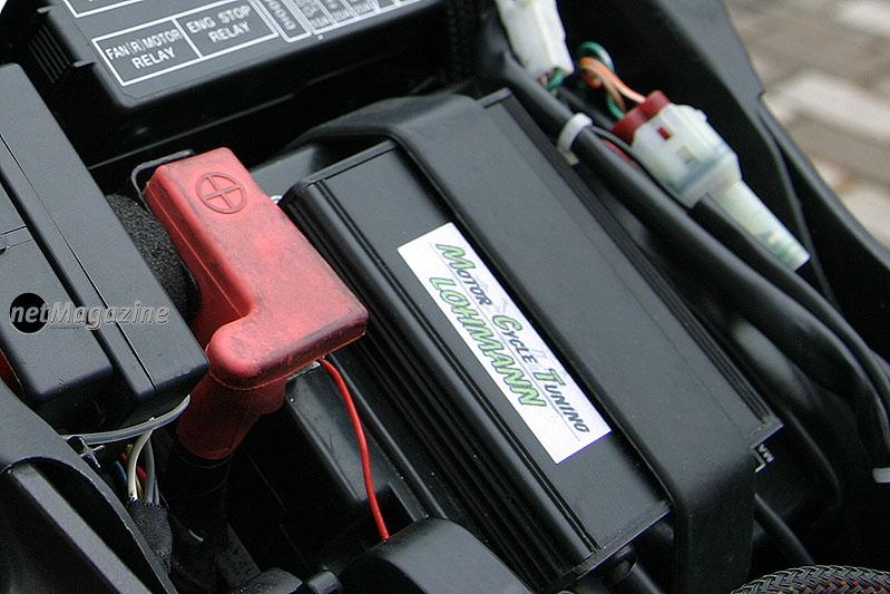 Der SchaltautomatFSM5 erlaubt das Hochschalten bei VOLLGAS!